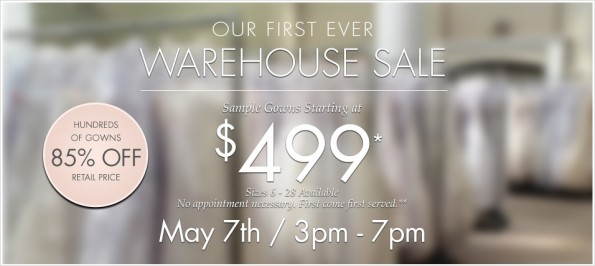 Don T Miss Event Kleinfeld Warehouse Sale Table 6 Productions