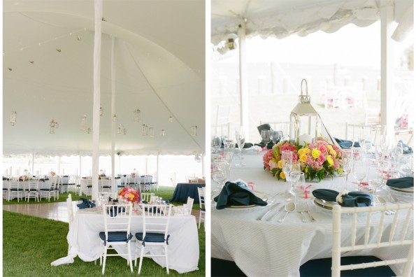 Nautical Navy Pink Wedding St. Michaels: : planned by Lauryn Prattes with Table 6 Productions; photography by Abby Jiu Photography, flowers by Holly Chapple Flowers