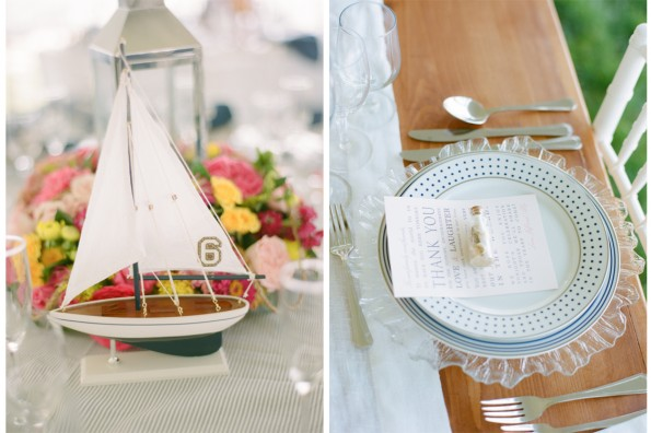 Sailboat Table numbers at Nautical Navy Pink Wedding St. Michaels: planned by Lauryn Prattes with Table 6 Productions; photography by Abby Jiu Photography, flowers by Holly Chapple Flowers