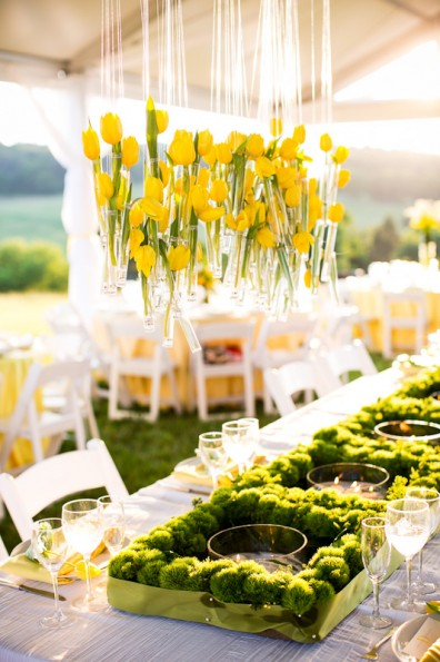 Modern Yellow Farm Wedding: planning by Lauryn Prattes with Table 6 Productions, photography by K Thompson Photography
