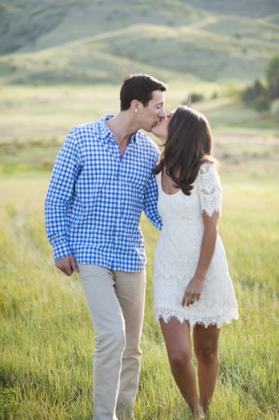 Sylvia and Dan's Colorado Engagement Shoot by Brinton Studios featured on Style Me Pretty
