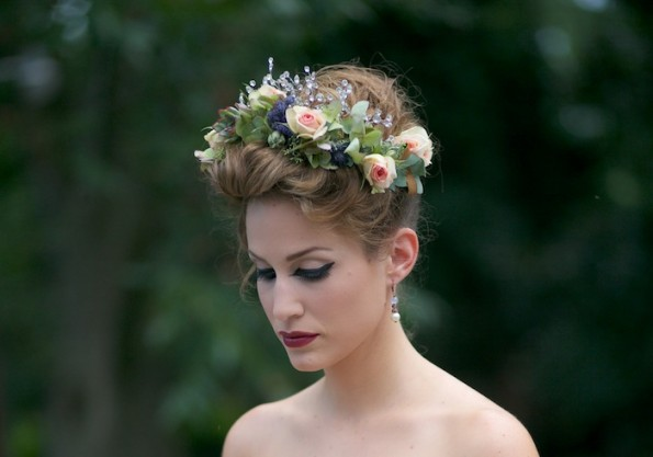 Florals and tiara