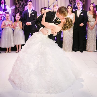 A Magical Evening of Gold Sequin Runners, a Delicious Ice Cream Bar, and First Dances!