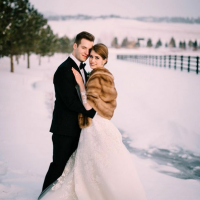 Meagan and James Spruce Mountain Ranch Winter Wedding