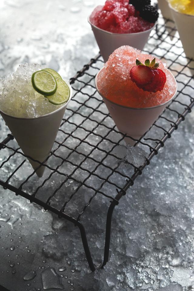snow cone cocktails
