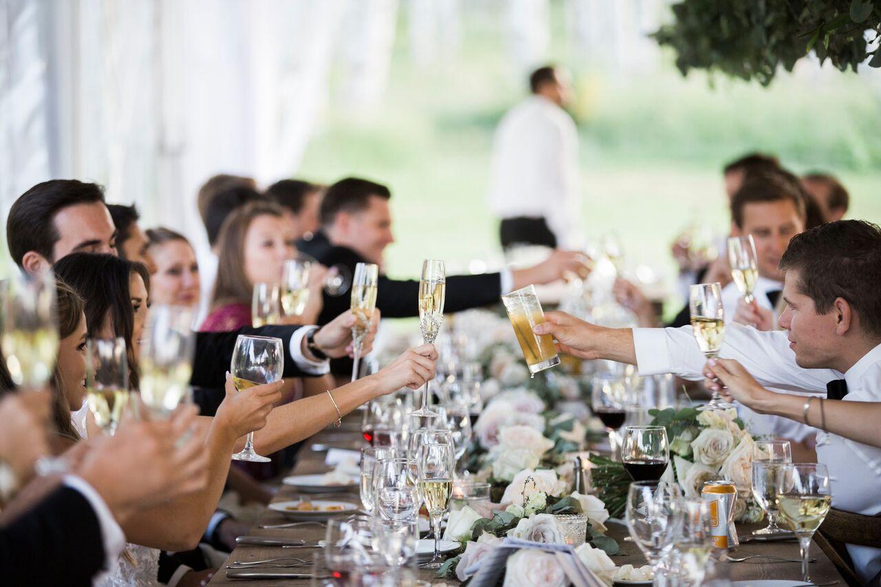 Colorado Wedding Party Cheers | Table 6 Productions