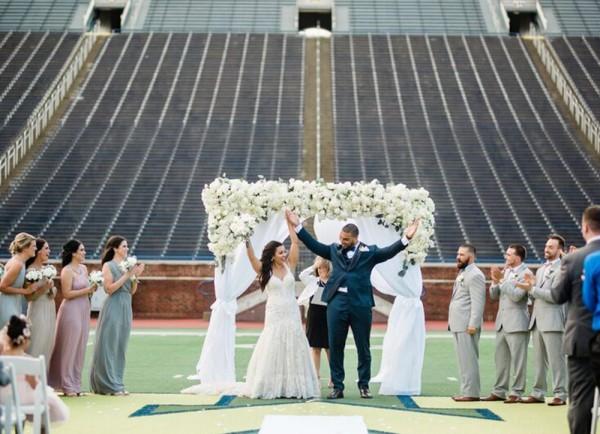 destination wedding planners Alexis & Chris Michigan Stadium