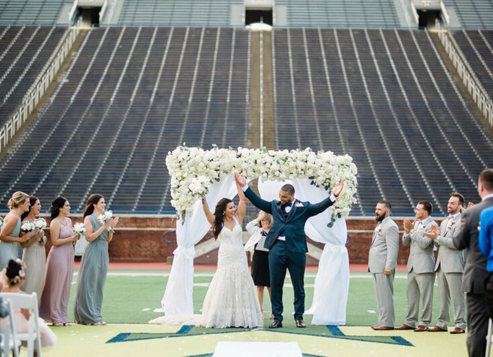 "Alexis and Chris's ""Big House"" Ann Arbor Wedding"