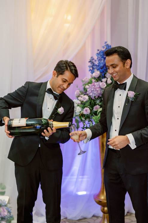 Champagne Toast Wedding